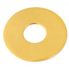 Pendentif empreinte mini pi avec cordon (or jaune 750°)