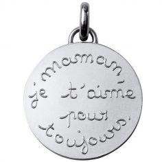 Médaille Maman je t'aime pour toujours 23 mm (argent 950°)