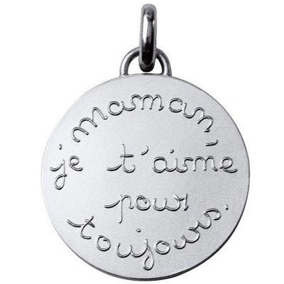 Médaille Maman je t'aime pour toujours 23 mm (argent 950°)  par Monnaie de Paris