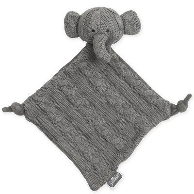 Doudou plat éléphant Cable gris (28 cm) Jollein