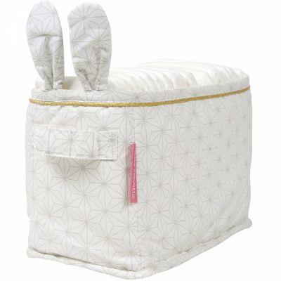 Panier de toilette Pompom le lapin (12 x 24 cm)  par Little Crevette