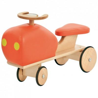 Porteur forme tracteur rétro orange Mémoire d'enfant Moulin Roty