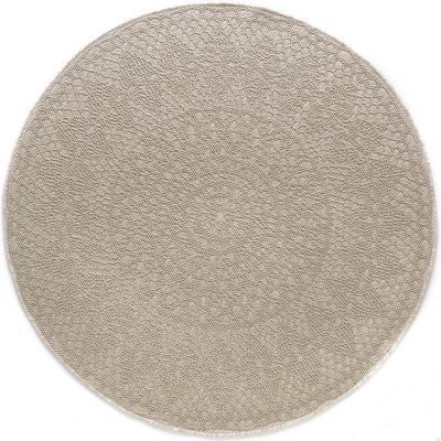 Tapis rond Crochet ivoire (160 cm)  par Art for Kids