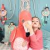 Attrape rêves d'éveil à suspendre Flamingos le Flamant Rose  par Les Déglingos