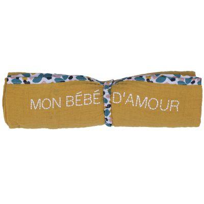 Lange en coton Mon bébé d'amour Baby Pop (70 x 70 cm)  par BB & Co