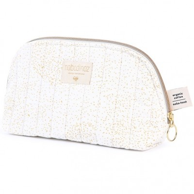 Trousse de toilette Holiday Gold bubble White  par Nobodinoz