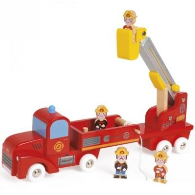 Camion de pompiers géant story  par Janod