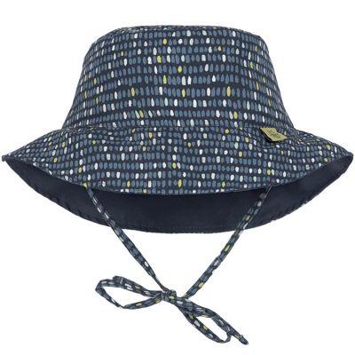 Chapeau anti-UV réversible Splash & Fun Pois bleu (6-18 mois)  par Lässig