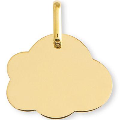 Médaille nuage personnalisable (or jaune 375°)  par Lucas Lucor