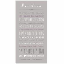 Affiche adhésive Merci Nounou personnalisable gris clair (45 x 90 cm)  par Mes Mots Déco