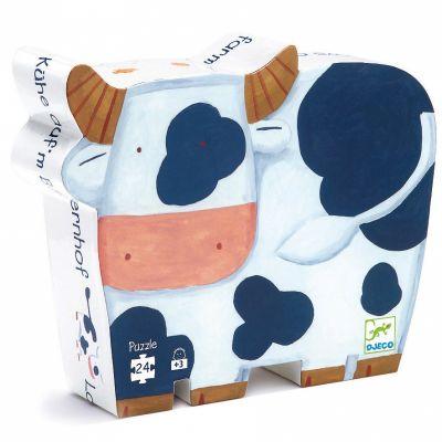 Puzzle Les vaches à la ferme (24 pièces)  par Djeco