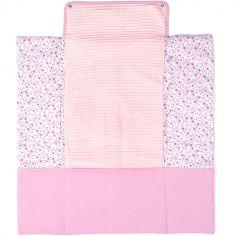 Tapis à langer avec poches Liberty rose