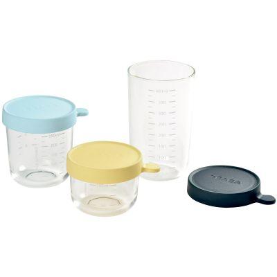 Lot de 3 pots de conservation en verre Béaba