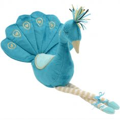 Peluche paon bleu (43 cm)