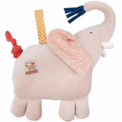 Peluche musicale à suspendre éléphant Les Papoum (23 cm) Moulin Roty