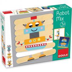 Jeu d'association en bois Robot Mix