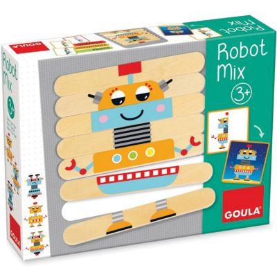 Jeu d'association en bois Robot Mix Goula