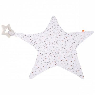 Doudou étoile avec anneau de dentition espace Kikadu