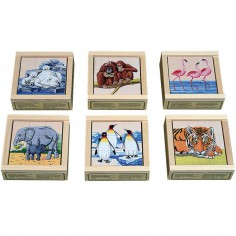 Puzzle cube animaux (9 cubes)