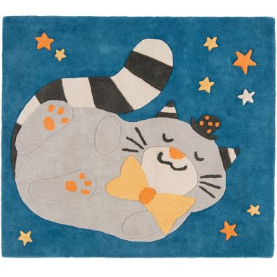 Tapis rectangulaire chat Fernand Les Moustaches (110 x 98 cm)  par Moulin Roty