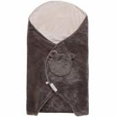 Couverture nomade groloudoux gris foncé et beige Mix et Match (0-6 mois) - Noukie's