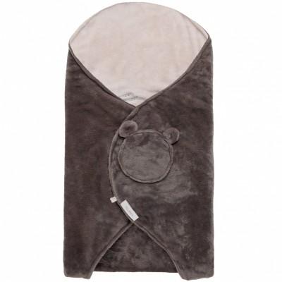 Couverture nomade groloudoux gris foncé et beige Mix et Match (0-6 mois)  par Noukie's