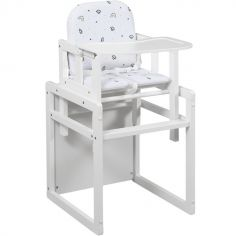 Chaise haute 2 en 1 Tik Tak blanche