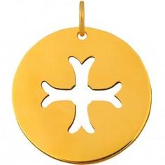 Médaille Signes Croix Byzantine 16 mm (or jaune 750°)