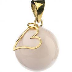Bola blanc coeur doré