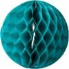 Lot de 3 boules en papier alvéolé émeraude - Arty Fêtes Factory