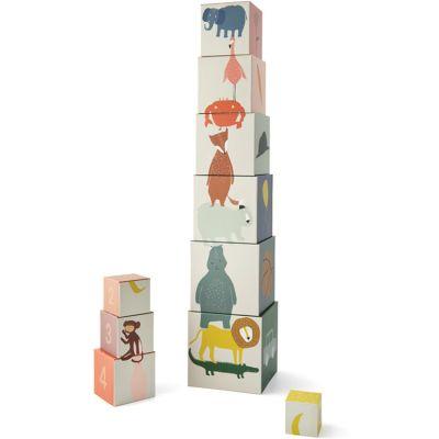 Cubes empilables Animaux (10 cubes)  par Trixie