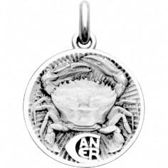 Médaille signe Cancer (argent 925°)