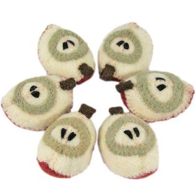 Lot de 6 quartiers de pomme en feutrine  par Papoose