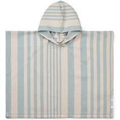 Poncho de bain Roomie rayé bleu (3-4 ans)