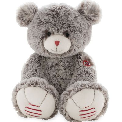 Peluche ours Rouge Kaloo grise (38 cm) Kaloo