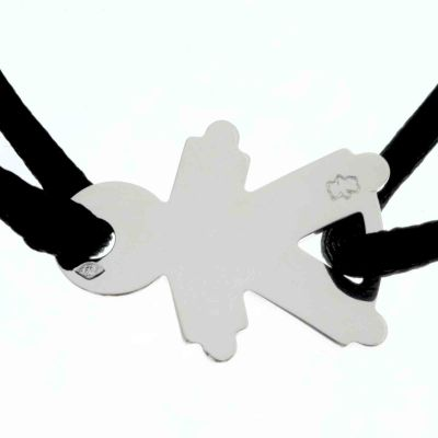 Bracelet cordon petit garçon 17 mm (argent 925°)  par Loupidou