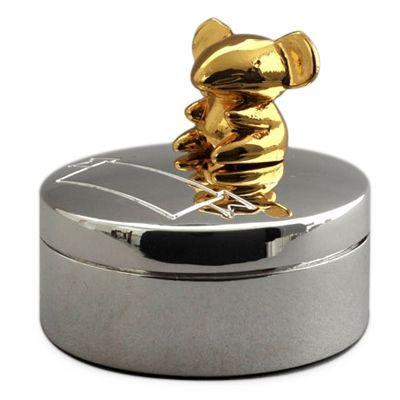 Boîte à dents de lait Souris (métal argenté et doré)  par Daniel Crégut