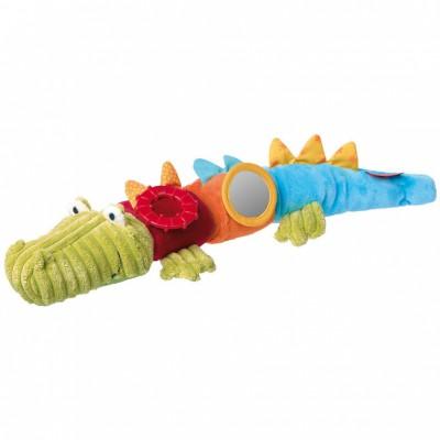 Peluche d'activités crocodile avec velcro (45 cm) Sigikid