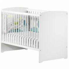 Lit bébé têtes panneaux New Basic blanc (60 x 120 cm)