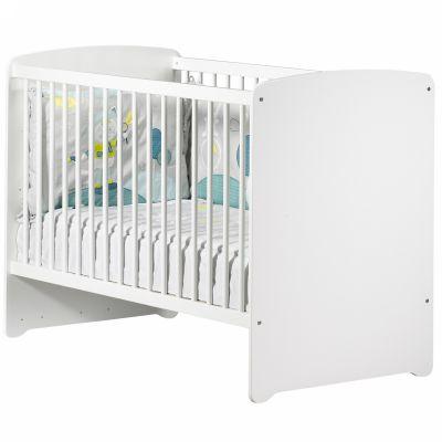 Lit bébé têtes panneaux New Basic blanc (60 x 120 cm)  par Baby Price