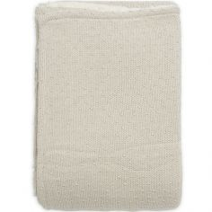 Couverture en tricot Teddy Bliss knit nougat (75 x 100 cm)