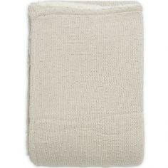 Couverture en tricot Teddy Bliss knit nougat (75 x 100 cm)