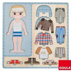 Puzzle Petit garçon s'habille (10 pièces)