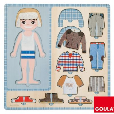 Puzzle Petit garçon s'habille (10 pièces) Goula