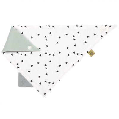 Bavoir bandana avec élément de dentition en silicone Little Spookies olive  par Lässig