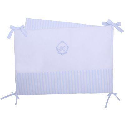 tour de lit garda bleu pour lits 60 x 120 et 70 x 140 cm par tartine et chocolat. Black Bedroom Furniture Sets. Home Design Ideas