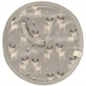 Doudou attache sucette Forêt des cerfs taupe - Fresk