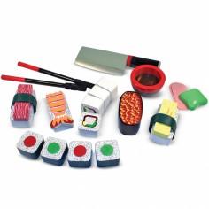 Jeu pour trancher Les sushis en bois (24 pièces)