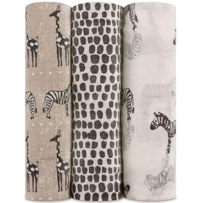 Lot de 3 maxi langes Silky soft Sahara (120 x 120 cm)   par aden + anais