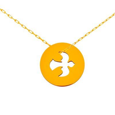 Médaille colombe sur chaîne (or jaune 18 carats)  par Maison La Couronne